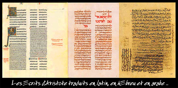 écrits d'Aristote traduits