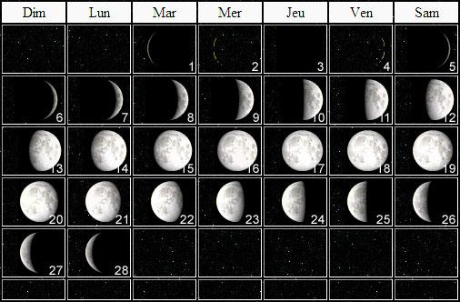 Calendrier Lunaire Fevrier.Calendrier Astronomique Fevrier 2011